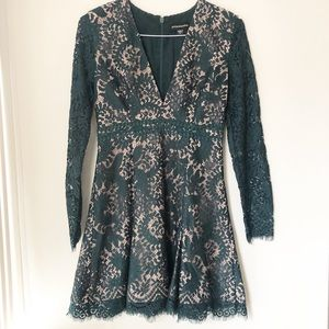 Emerald Green Lace Holiday Dress